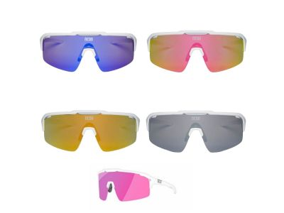Cyklistické okuliare NEON ARROW WHITE MIRRORTRONIC